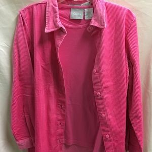 Tops - NWT Blair long sleeve shirt with matching t-shirt